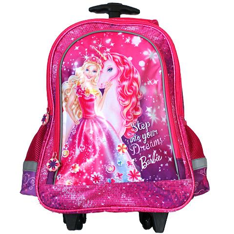 Barbie és Unikornisa gurulós iskolatáska hátizsák  d74758c845