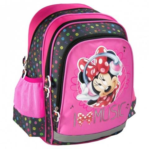 Minnie Egér I Love Music iskolatáska hátizsák  a95a2ee85a