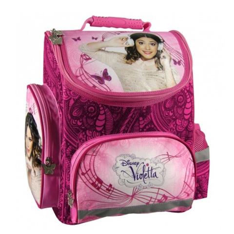 164e70517f55 Violetta ergonomikus iskolatáska hátizsák rózsaszín mintázattal ...