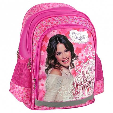 Violetta virágos iskolatáska hátizsák  2da8543005