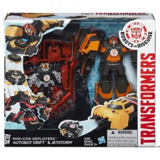 Transformers Robots in Disguise Mini-Con telepítő Drift és Jetstorm robotfigura szett