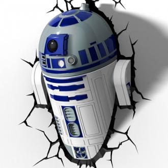 Star Wars R2D2 Droid 3D LED Fali lámpa