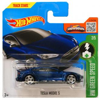 Hot Wheels Tesla Model S kék kisautó 1/64