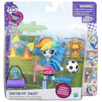 Én kicsi pónim Equestria Girls Minis Rainbow Dash party szett