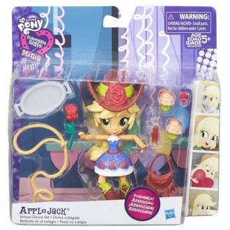 Én kicsi pónim Equestria Girls Minis Apple Jack party szett