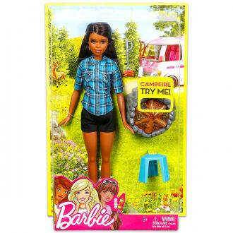 Barbie barna bőrű Barbie a tábortűz mellett