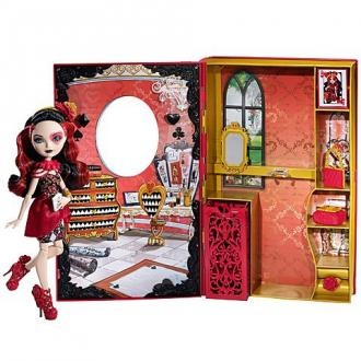 Ever After High Lizzie Heart baba Zűrös tavasz könyv szett