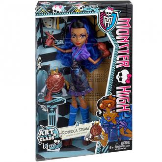 Monster High Robecca Steam művész tanonc baba