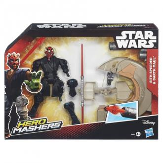 Star Wars Hero Mashers Sith Speeder és Darth Maul figura