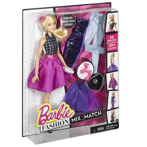 Barbie Szőke baba divatos ruhatárral  1df1bcdd8a