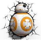 Star Wars BB-8 Droid 3D LED Fali lámpa