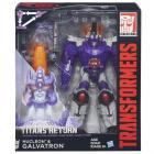 Transformers Titans Return Nucleon és Galvatron robotfigurák
