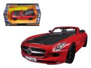 Maisto 1:24 Mercedes-Benz SLS AMG Roadster bordó